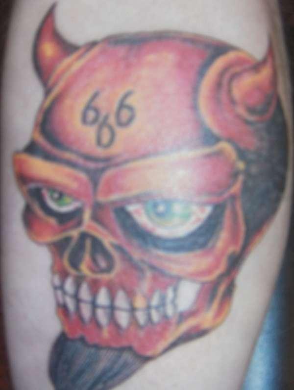 hell 666 tattoo