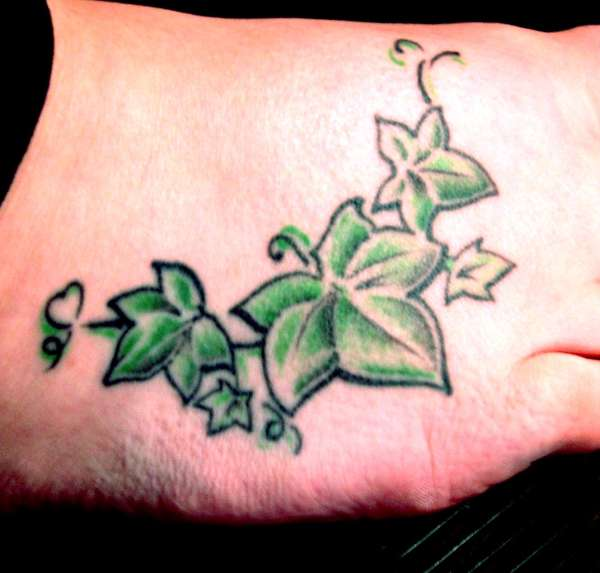 Ivy on foot tattoo