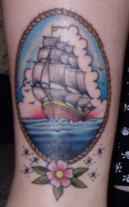clipper ship tattoo