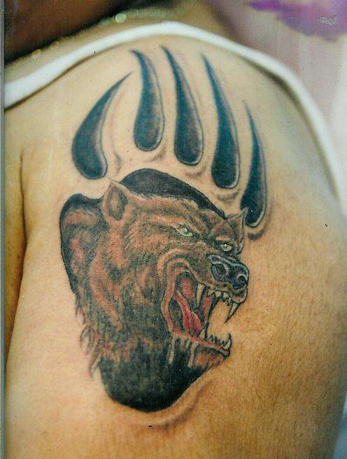 BEAR/CLAW tattoo