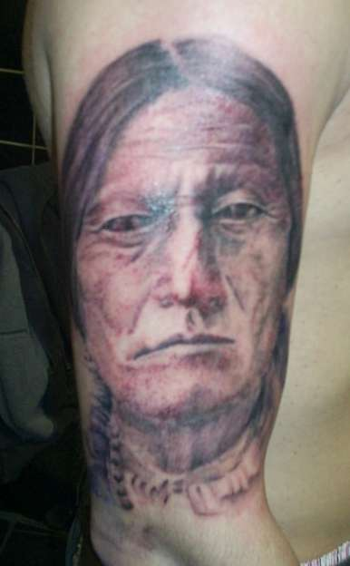 sitting bull by  Greenah (21stcenturytattooshop) tattoo