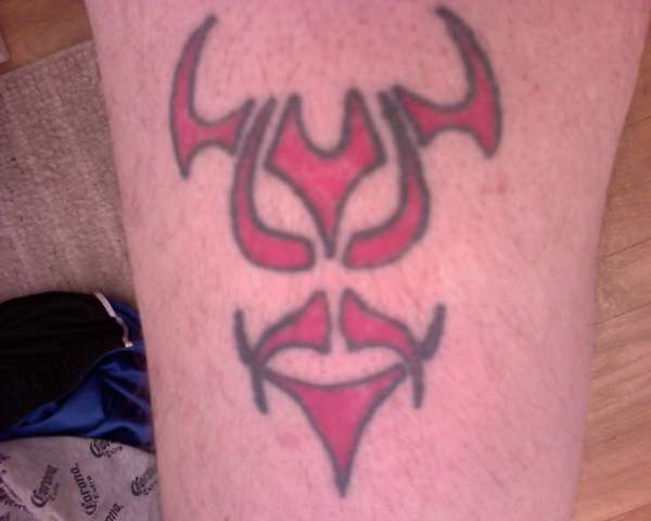DEVIL FACE tattoo