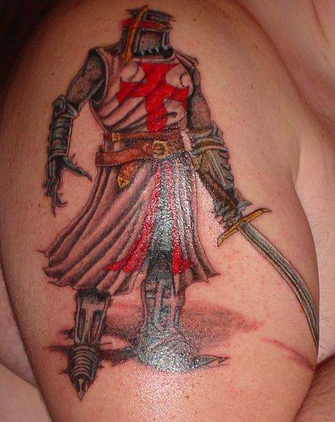 knight templar tattoo. Black Bedroom Furniture Sets. Home Design Ideas