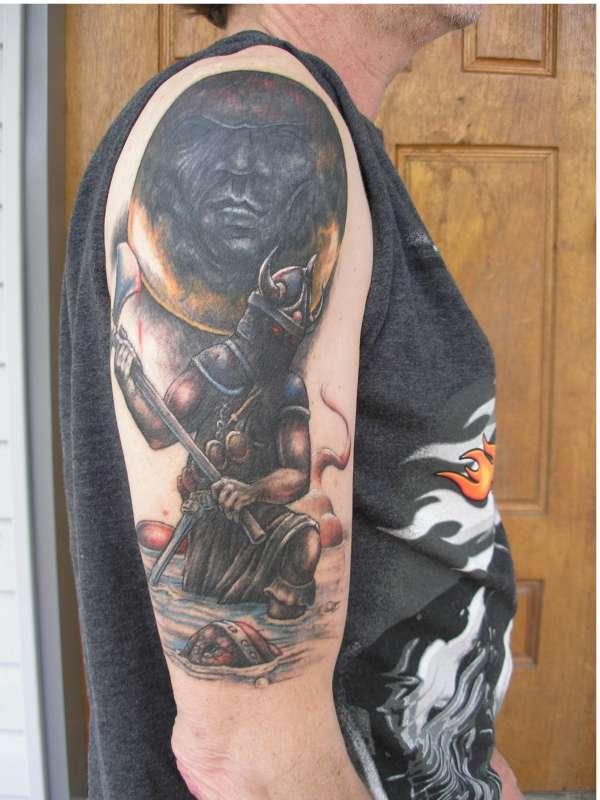 Finished Frazetta Cover up Tattoo tattoo
