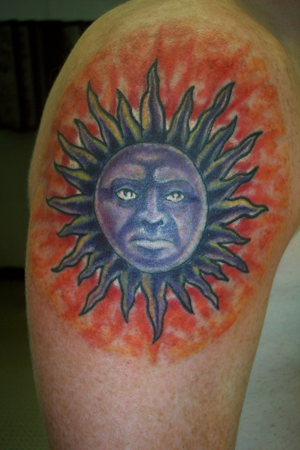 SUN COVER UP tattoo
