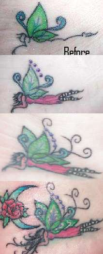 Foot Fairy Stages tattoo