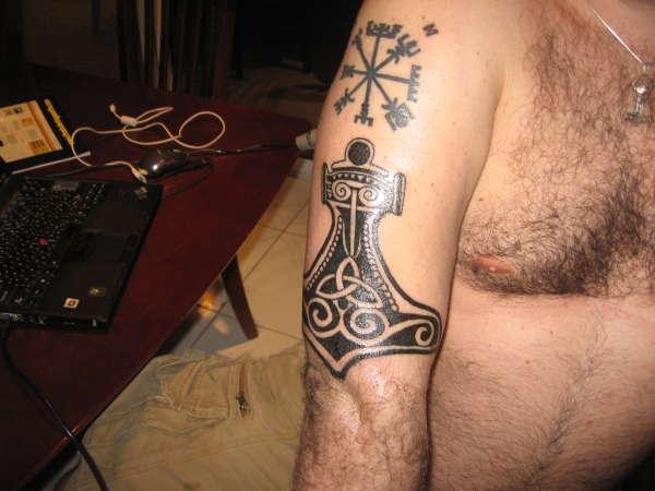 Thor's Hammer tattoo