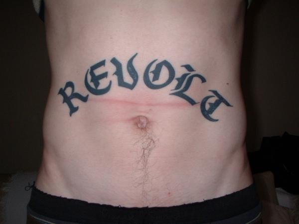REVOLT tattoo