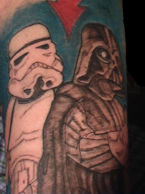 Darth Vader And Storm Trooper tattoo