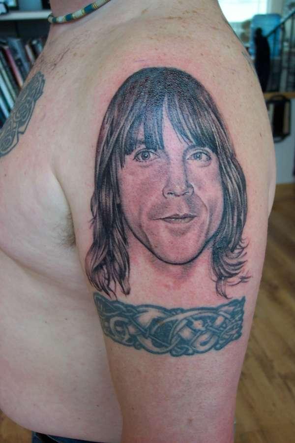 Anthony Kiedis portrait tattoo