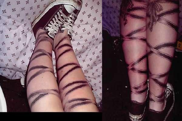 Ribbons tattoo