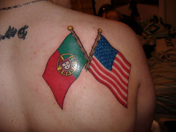 portuguese american flag 39 s tattoo. Black Bedroom Furniture Sets. Home Design Ideas