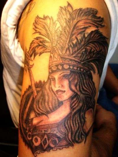AZTEC WOMAN tattoo