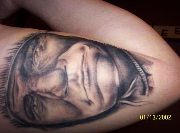 Darrin's indian chief tattoo