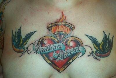Jen Chest tattoo