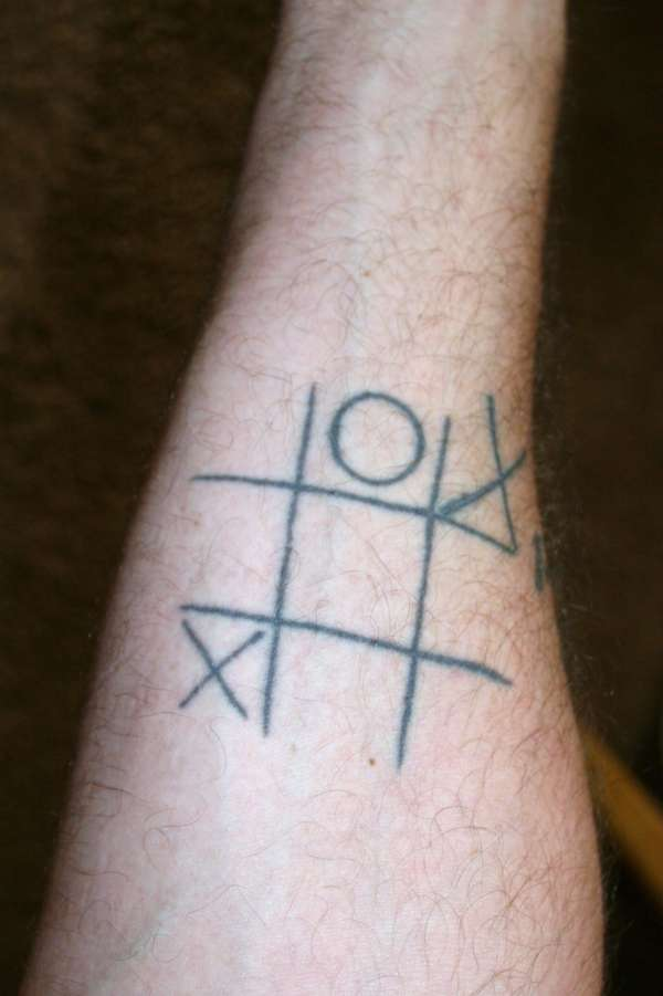 Tic-Tac-Toe tattoo