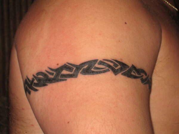 Tribal armband tattoo