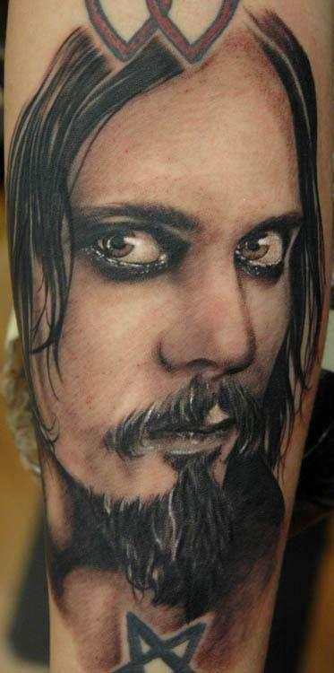 Ville Valo Portrait tattoo
