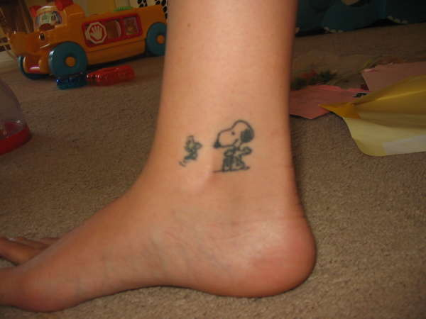 Snoopy And Woodstock Tattoo