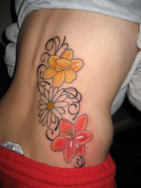 Birth Month Flowers tattoo