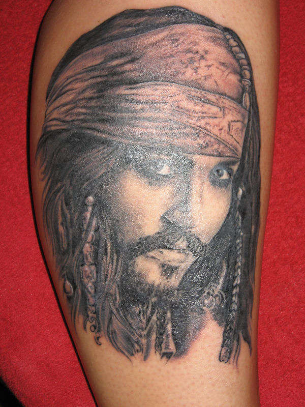 Johnny Depp As Jack Sparrow Tattoo