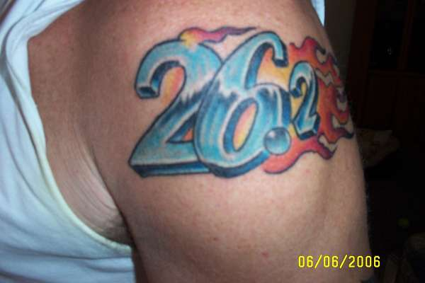 Marathon 26.2 tattoo