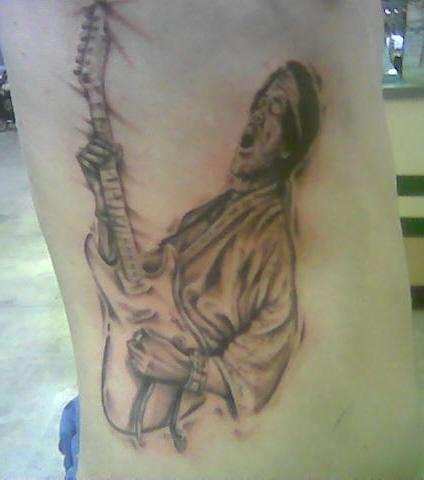 Jimi At Woodstock tattoo