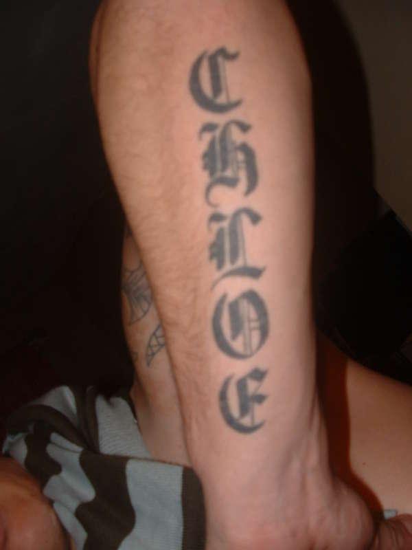 Chloe tattoo