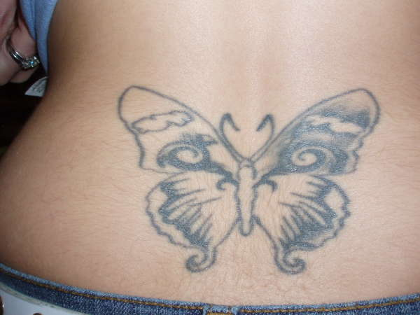 Big mistake of a butterfly tattoo