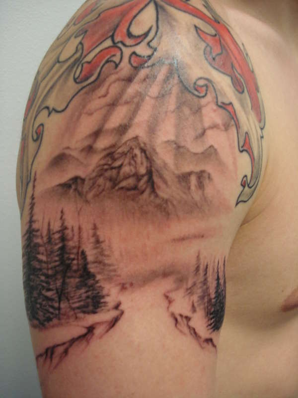 Mountain Scene tattoo