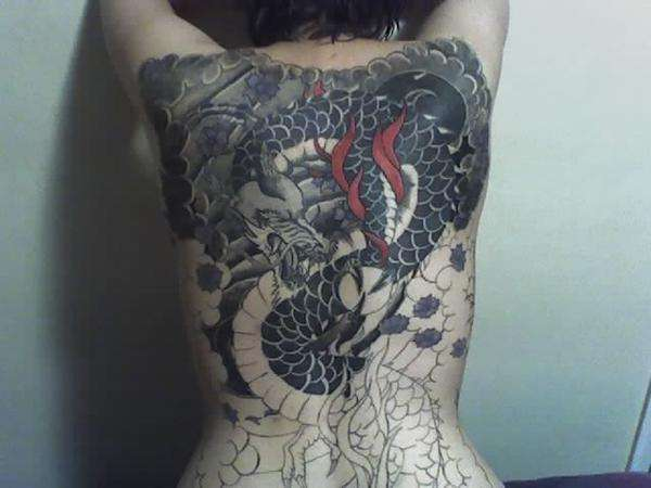 My back (unfinished) tattoo