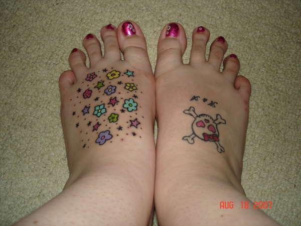 feet tattoo's tattoo