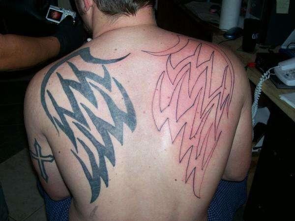 wings in progress tattoo