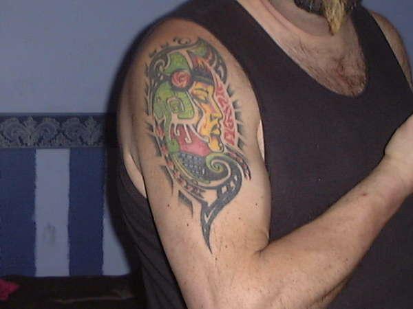 death mask tattoo