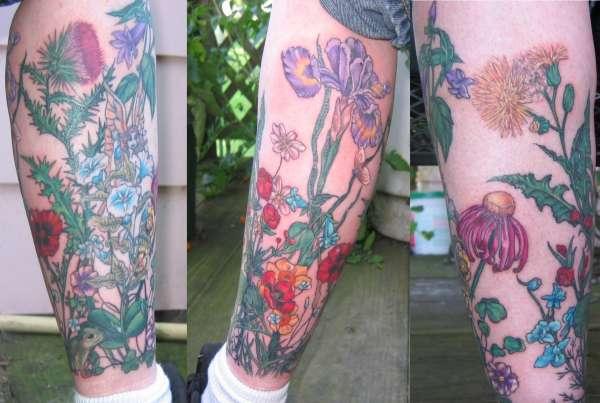 Lower Leg tat tattoo