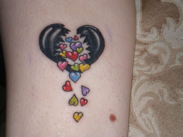 Black Heart Of Many Colors tattoo