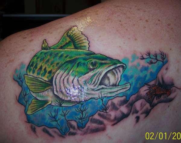 Maori Largemouth Bass Tattoo: Largemouth Bass Tattoo