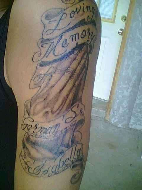 638ab79ec Dad and Baby Niece Memorial tattoo