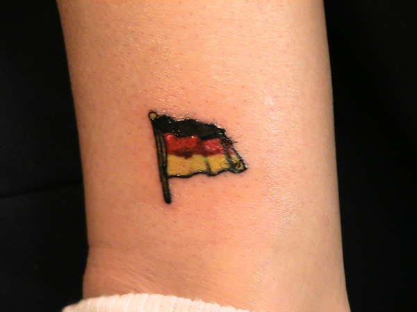 German flag tattoo