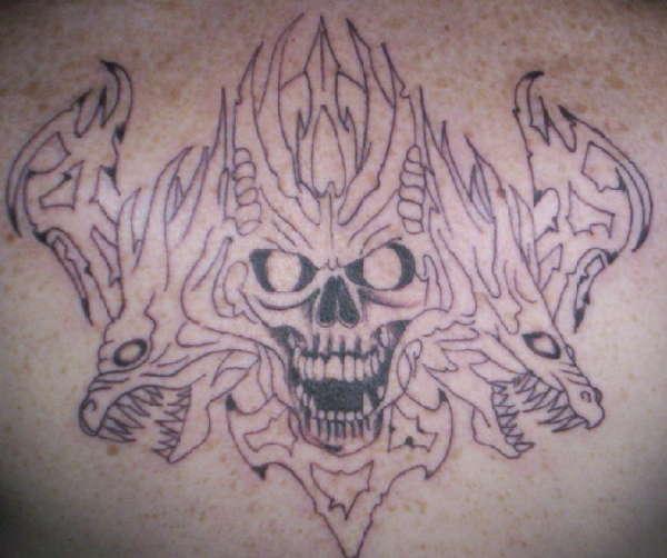 Skull Back Piece: Skull Back Piece Tattoo