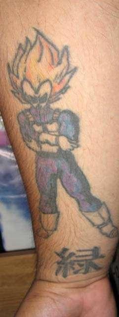 Hubby's DBZ tat tattoo