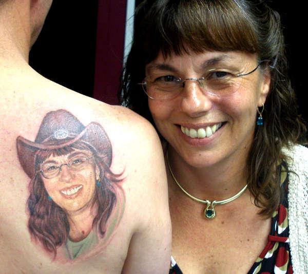 Color portrait .. tattoo
