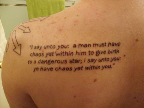 Quote Chaos Star Tattoo