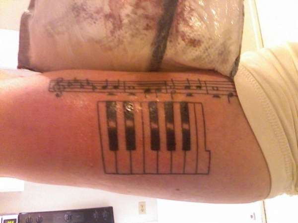 Piano (It is Well) tattoo