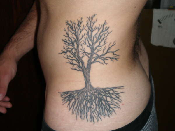 Tree and roots tattoo