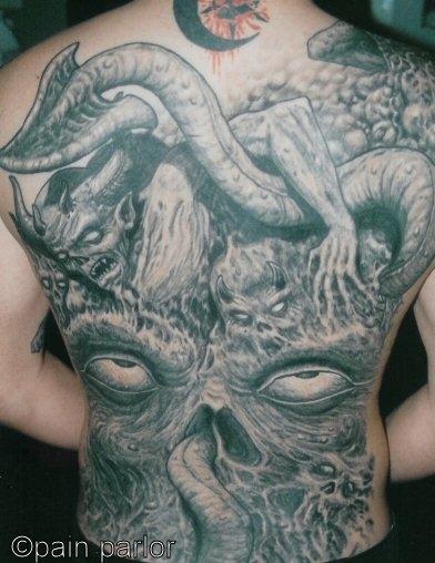gnarly back tattoo