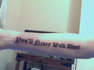 Liverpool - You'll Never Walk Alone tattoo