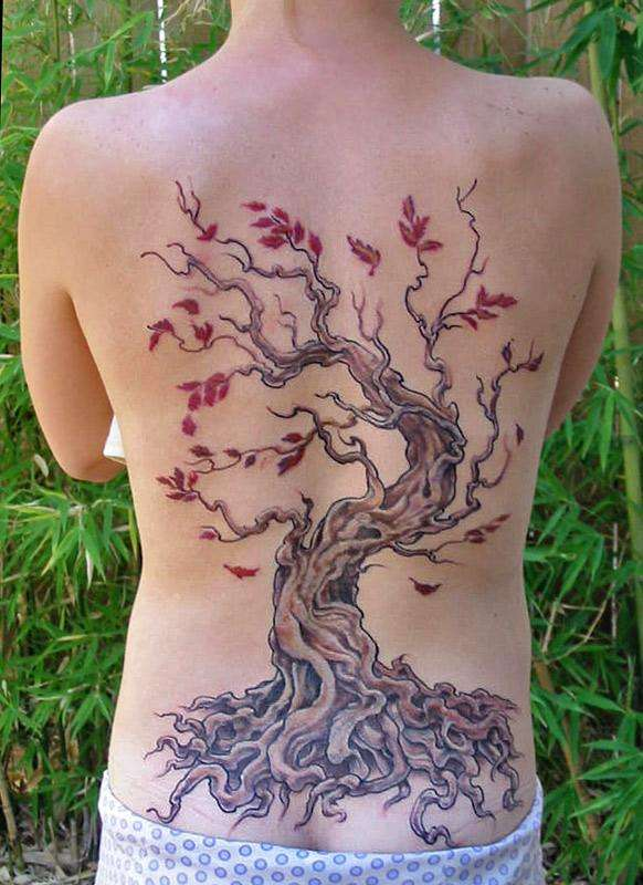 red maple tattoo