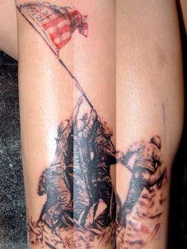 His First Tattoo First Sitting tattoo