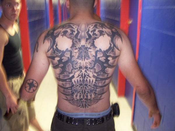 Skull Back Peice tattoo